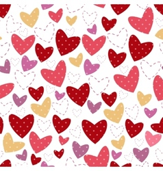 white background for postcard with heart and point vector image