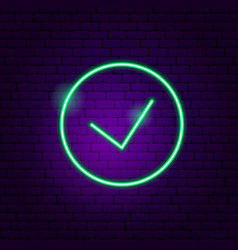 yes button neon sign vector image