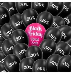Black Friday Realistic black vector image vector image