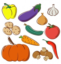 vegetable collection vector image vector image