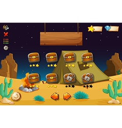 A videogame in the desert vector image vector image