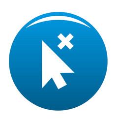 cursor close element icon blue vector image