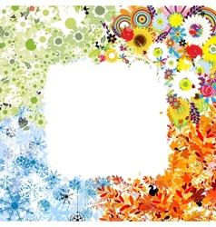 Four seasons frame - spring summer autumn winter vector image