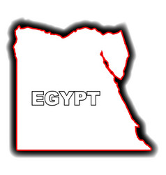 outline map of egypt vector image