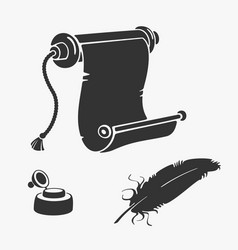 papyrus pen and ink set vector image