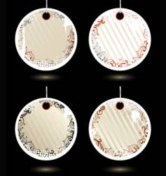 set of pinklabels vector image vector image