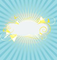 silver lining grunge vector image vector image