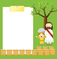 template jesus2 vector image vector image
