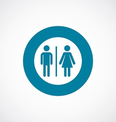 toilet icon bold blue circle border vector image