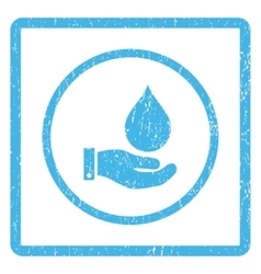 Water Service Icon Rubber Stamp vector image vector image