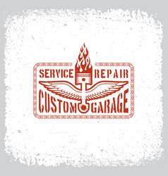 custom garage vector image vector image
