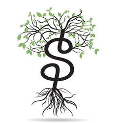 money tree-growing dollars vector image