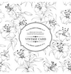 Vintage label card vector image vector image
