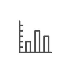 bar chart line icon vector image