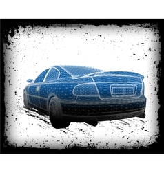 Car is designed vector image vector image