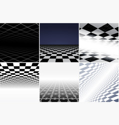 Collection of futuristic abstract backgrounds vector