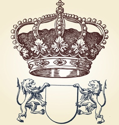 Royal symbol vector image vector image