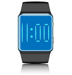 Smartwatch isolated vector image