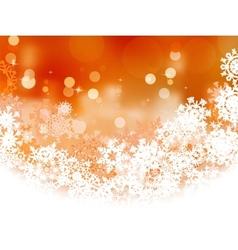 Snowflake orange Christmas holiday EPS 8 vector image vector image