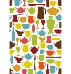 Tableware seamless vector image vector image