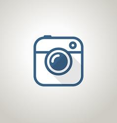 Vintage photo camera icon Minimalism concept vector image vector image