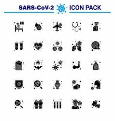25 solid glyph coronavirus covid19 icon pack vector