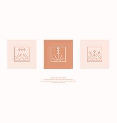 A set geometric emblems elements vector