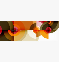 abstract background circle design vector image