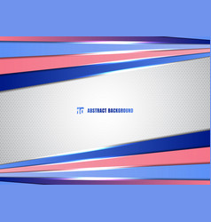 abstract template blue and pink gradient color vector image