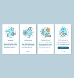 advantages onboarding mobile app page screen vector image
