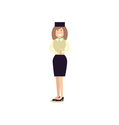 air stewardess flat vector image