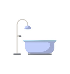 bathtub isolated icon in flat style vector image