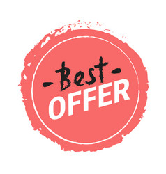 best offer isolated red sticker icon hand vector image