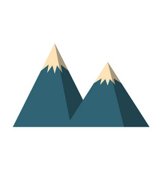 Big mountains isolated icon vector