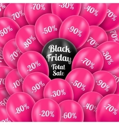 Black Friday Realistic pink vector