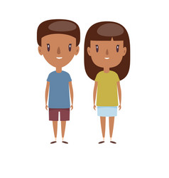 boy and girl - characters vector image