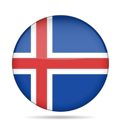 button with flag of Iceland vector image