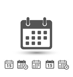 calendar icons on white background vector image