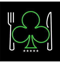 Casino restaurant logo vector image