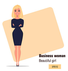 Character beautiful business woman 18 vector