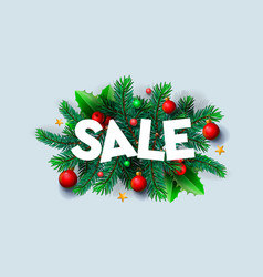 christmas sale banner xmas decoration christmas vector image