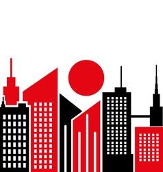 City fon vector