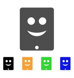 Communicator smile smiley icon vector