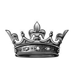 crown hand drawn vector image