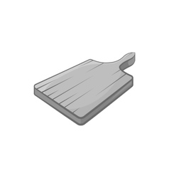 Cutting board icon black monochrome style vector