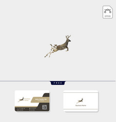 deer low poly concept logo template free your vector image