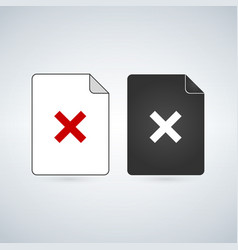 Delete or remove document file icon flat sign for vector