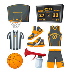 different sport symbols basketballs vector image
