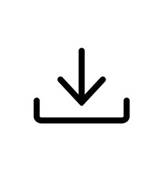 download icon install symbol upload button vector image