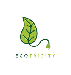 eco energy symbol icon logo logotype template vector image